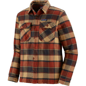 Patagonia Insulated Fjord Flanellen Jas Heren, plots/burnished red